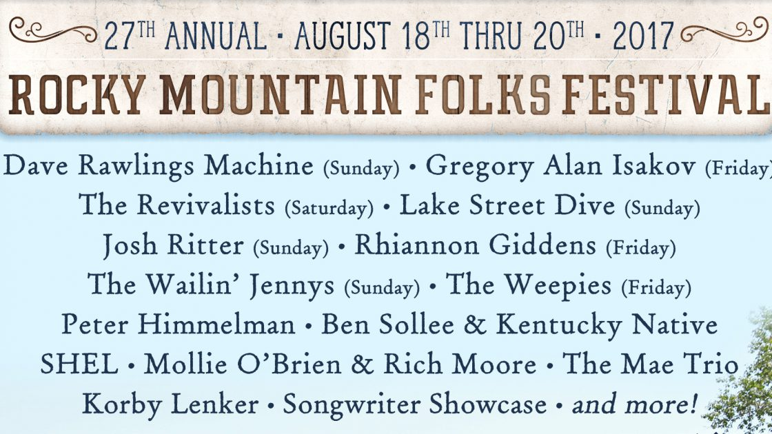 NEW SHOW: Dave Rawlings Machine at Rocky Mountain Folks Fest